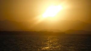 Coucher de soleil égyptien